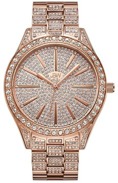JBW Women's Cristal 0.12 ctw Diamond 18k rose gold-plated stainless-steel Watch