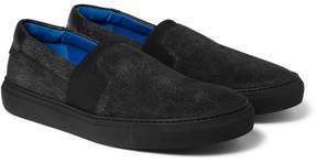 Balenciaga Cracked-Nubuck Slip-On Sneakers