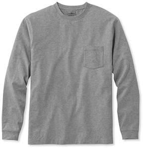 L.L. Bean Carefree Unshrinkable Tee with Pocket, Traditional Fit Long-Sleeve