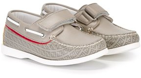 Fendi Kids touch fastening deck shoes