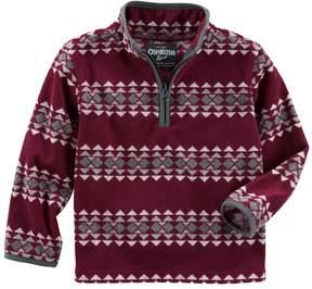 Osh Kosh Boys 4-12 Tribal 1/4 Zip Pullover Fleece Top