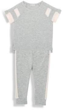 Splendid Toddler's Loose Knit Football Top & Jogger Pants Set
