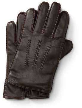 Ralph Lauren Leather Touch Screen Gloves Circuit Brown Xl