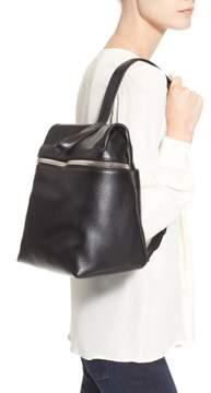 Kara Leather Backpack - Black