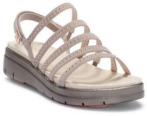 Jambu Elegance Leather Wedge Sandal
