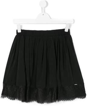Diesel lace-hem short skirt