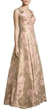 Aidan Mattox Metallic Jacquard Ball Gown