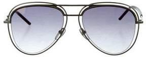 Marc Jacobs Mirrored Aviator Sunglasses