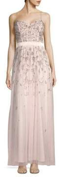 Aidan Mattox Embellished Sleeveless Gown