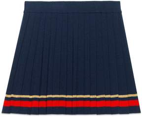 Gucci Children's pleated wool skirt with lurex