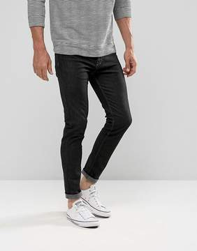 Benetton Skinny Jean In Black With Stretch