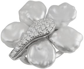 Bella Pearl Silver Rhodium Plated Ring