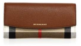 Burberry Printed Leather Clutch - TAN - STYLE