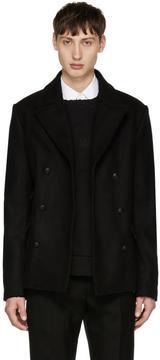 Pierre Balmain Black Wool Peacoat