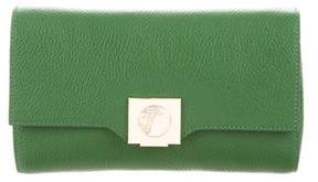 Versace Grained Leather Convertible Clutch