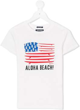 Woolrich Kids Aloha beach flag T-shirt