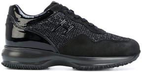 Hogan tweed panel sneakers