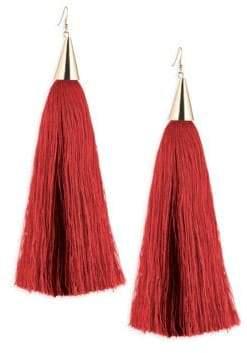 Eddie Borgo Long Silk Tassel Earring