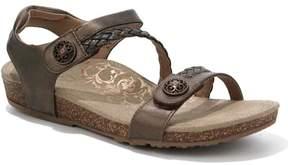Aetrex Jillian Braided Leather Sandal with Built-In Lynco Orthotics