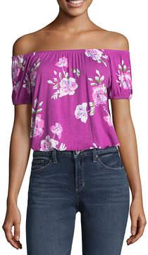Arizona Short Sleeve Crop Top-Juniors