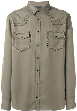 Laneus metallic-embellished shirt