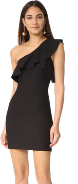 Elizabeth and James Jerard One Shoulder Ruffle Dress
