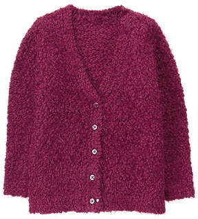 Gymboree Wine Bouclé Cardigan - Toddler & Girls