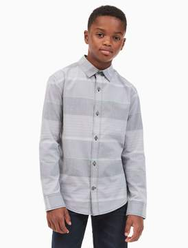 Calvin Klein boys multi stripe shirt
