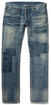 Co Fabric-Brand & Bowie Slim-Fit Washed-Denim Jeans
