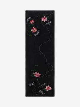 Alexander McQueen Marbled Water Lily Scarf