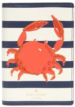 Kate Spade Shore Thing - Crab Leather Passport Holder - RED - STYLE