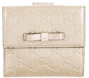 Gucci Guccissima Bow Signature Wallet - GOLD - STYLE