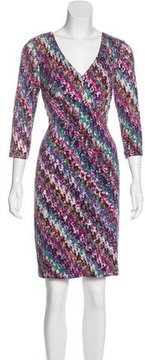 David Meister Printed Knee-Length Dress