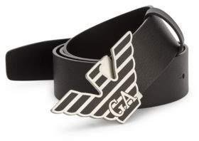 Emporio Armani Solid Leather Belt