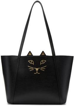 Charlotte Olympia Black Mini Feline Tote