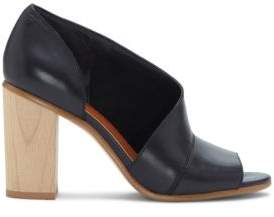 1 STATE 1.STATE Amble Block Wooden Heel Leather Pumps