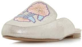 Head Over Heels *Head Over Heels By Dune Silver Geo Ladies Flat Shoes