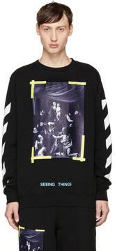 Off-White Black Diagonal Caravaggio Sweatshirt