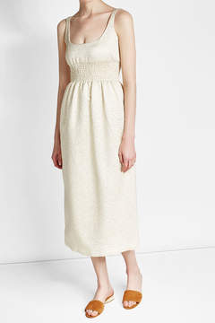 Emilia Wickstead Metallic Dress with Silk and Cotton