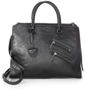 Rebecca Minkoff Large Leather Jamie Satchel - BLACK - STYLE