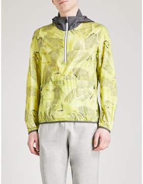 BOSS GREEN Pixelated-print hooded shell windbreaker jacket