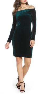 Eliza J Women's Off The Shoulder Velvet Sheath Dress