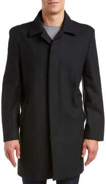 Hart Schaffner Marx Topper Wool-Blend Coat
