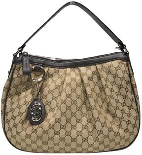 Gucci Hobo cloth handbag - BROWN - STYLE