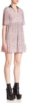 Giamba Collared Mini Dress