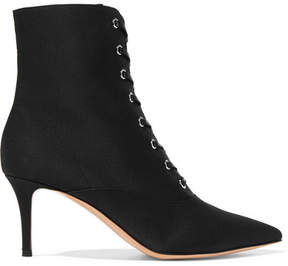 Gianvito Rossi 70 Faille Ankle Boots - Black