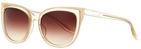 Barton Perreira Winette Gradient Cat-Eye Sunglasses, Neutral