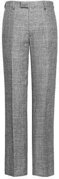 Banana Republic Standard Gray Plaid Linen Suit Pant
