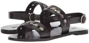 Frye Ally 2 Band Hammered Stud Sling Women's Sandals