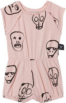 Nununu Powder Pink Skull Mask Yoga Playsuit